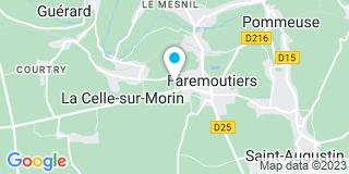 Plan Carte Les notaires Arnaud-Thierry Smagghe et Véronique Beaudoin-Smagghe à Faremoutiers