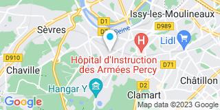 Plan Carte Poustis, Goin, Vachon, Bussière-Piette, Scoriels, Van Themsche et David à Meudon