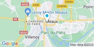 Plan Carte Les notaires Bertrand Loison et Christophe Roussel à Meaux