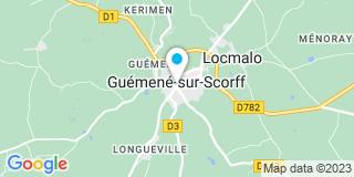 Plan Carte Olivier Arens et Danièle Peron à Guéméné-sur-Scorff