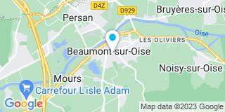 Plan Carte Philippe Rave et Véronique Leitao à Beaumont-sur-Oise