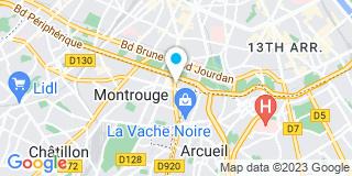 Plan Carte William Porge, Jacques Berthier, Cathy Bitbol et Corinne Perotto à Montrouge
