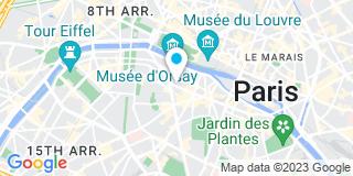 Plan Carte Pascal Chassaing, Raoul Le Foyer de Costil, Denis Leroy et Frédéric Behin à Paris