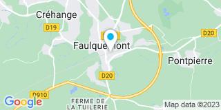 Plan Carte Céline Kiener à Faulquemont