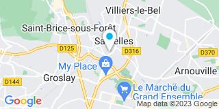 Plan Carte Sonia Debladis et Frédéric Henner à Sarcelles