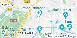 Plan Carte Robert Theret, Philippe Leroy, Jean Reberat et Frédérique Brandon à Paris