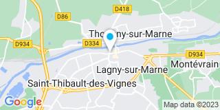 Plan Carte L'étude notariale de Lagny sur Marne