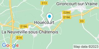 Plan Carte Martins Céline à Houécourt