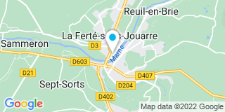 Plan Carte Les notaires Stéphane Bridoux et Gilles Krowicki  à La Ferté Sous Jouarre