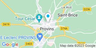 Plan Carte Les notaires Stéphane Perot et Corine Roussey-Perot à Provins