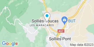 Plan Carte Domageau Yann à Solliès-Toucas