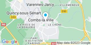 Plan Carte Les notaires François-Xavier Petit et Nathalie Guilbaud à Combs La Ville