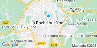 Plan Carte Henri Brianceau, Eric Emille, Grégory Mercier et Michel De Castellan à La Roche-sur-Yon
