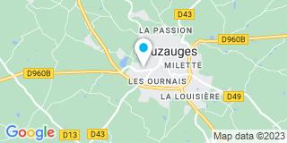 Plan Carte Cadiet, Gratraud, Tomljanovic et Lardière à Pouzauges