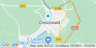Plan Carte Guy Mazerand et Pierre Mazerand à Creutzwald