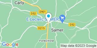 Plan Carte Lefebvre-Croquelois Florence à Samer