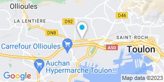 Plan Carte Carpentier, Bernard et Claudot à Toulon