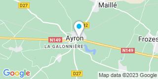 Plan Carte Eric Gilbert et Annie Poirier-Aroul à Civray