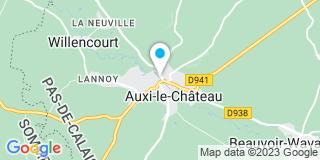 Plan Carte François Deramecourt et Juliette de Parcevaux-Deramecourt à Auxi-le-Château