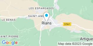 Plan Carte Bernard Berton et Nicolas Gueyraud à Rians