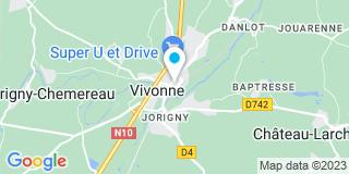 Plan Carte Marc Lecubin et Anne Lévesque-Lecubin à Vivonne