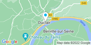 Plan Carte Notaire Marie-Nadège Chombart-Rieffel à Duclair