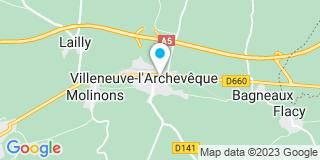 Plan Carte Millot-Sonnet Marie-Christine à Villeneuve-l'Archevêque