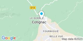 Plan Carte Jean-Pierre Haubre et Philippe Berton à Cotignac