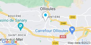 Plan Carte Massiani et Roquebert à Ollioules