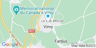 Plan Carte Marc Avinée, Olivier Linard et Sylvie Le Joubioux à Vimy