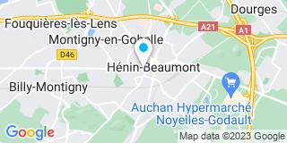 Plan Carte Maxime Bailleux, Bénédicte Muller et Guillaume Devrendt à Hénin-Beaumont