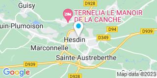 Plan Carte Michel Dupond et Gérard Rouze à Hesdin