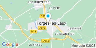 Plan Carte L'office notarial de Forges Les Eaux