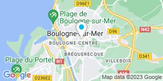 Plan Carte Pierre-Yves Dewisme, Jean-Pierre Desgardin et Grégory Senicourt à Boulogne-sur-Mer