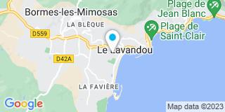 Plan Carte Philippe Bernie et Aline Pelloux-Boucher à Le Lavandou