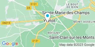 Plan Carte Les notaires Jean-Pierre Laloux et Emilie Bretteville à Yvetot