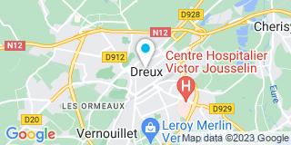 Plan Carte Jérôme Baffet et Olivier Gory à Dreux