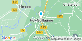 Plan Carte Corrèze Guilleux Michelle à Puy-Guillaume