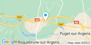 Plan Carte Eric Janer et Stéphanie Brines à Roquebrune-sur-Argens