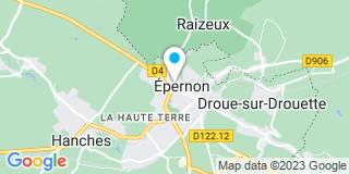Plan Carte Muriel Borg et Céline Bozellec à Epernon