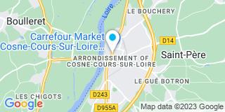 Plan Carte Jean-Paul Jacob, Christophe Theveny et Denis Bloin à Cosne-Cours-sur-Loire