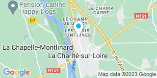 Plan Carte Joël Gauthier, Emmanuel Clerget, Valérie Clerget à La Charité Sur Loire