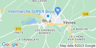 Plan Carte Pascal Fouillet et Lucette Armengau à Brou