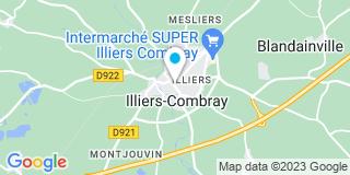 Plan Carte Pierrette Deloubes et Jean-Louis Hallouin à Illiers Combray