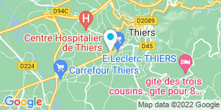 Plan Carte Mathieu Brisson à Thiers