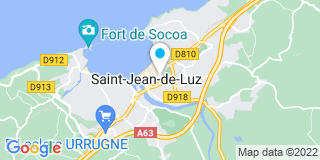 Plan Carte Pierre Fagoaga, Olivier Coustou, Claudine Salha, Amélie Juzan et Vincent Fagoaga à Saint-Jean-de-Luz