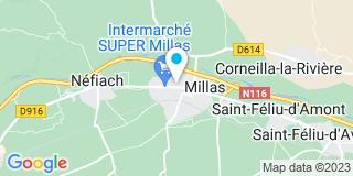Plan Carte Karine Bertrand-Gouvernaire, Jean-Charles Gouvernaire et Cécile Marty à Millas
