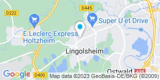 Plan Carte Laurence Wolff à Lingolsheim