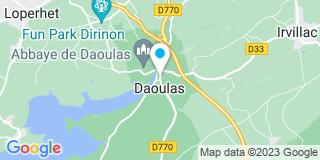 Plan Carte Antoine Desmiers de Ligouyer, Marie-Laure Bouthors-Desmiers de Ligouyer et Corinne Lemoine à Daoulas