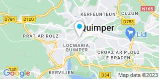 Plan Carte Barbara Kervella et Cyril BLanchard à Quimper
